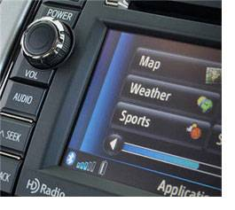 Applications on a car entertainment system